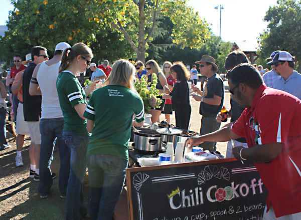 Wine Sisterhood sponsored bocce chili cookoff