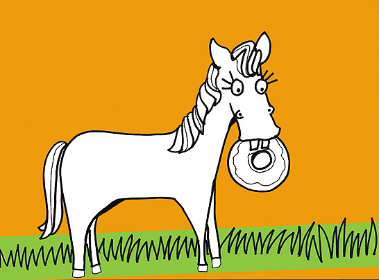 Animals Eating Donuts Coloring Pages  helenjanecom