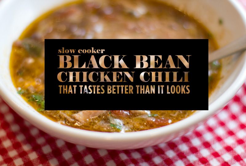 Slow Cooker Black Bean and Chicken Chili